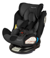 BabySafe Labrador Gray-Black Car Seat with ISOFIX Base (0-12 years, 0-36 kg)