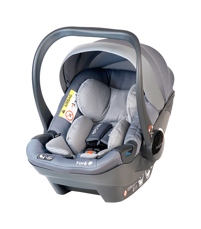 BabySafe York Grey Car Seat with or without ISOFIX Base (i-Size) (0-15 months, 0-13 kg)