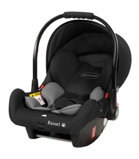 BabySafe Basset Grey Car Seat with or without ISOFIX Base (0-15 months, 0-13 kg)