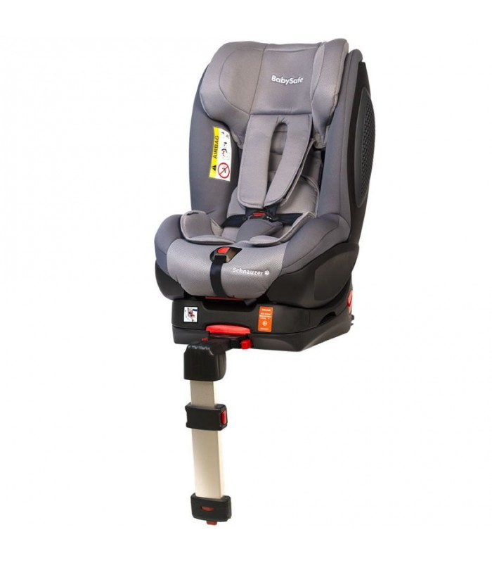 BabySafe Schnauzer Grey Car Seat with ISOFIX Base (0-4 years, 0-18 kg)