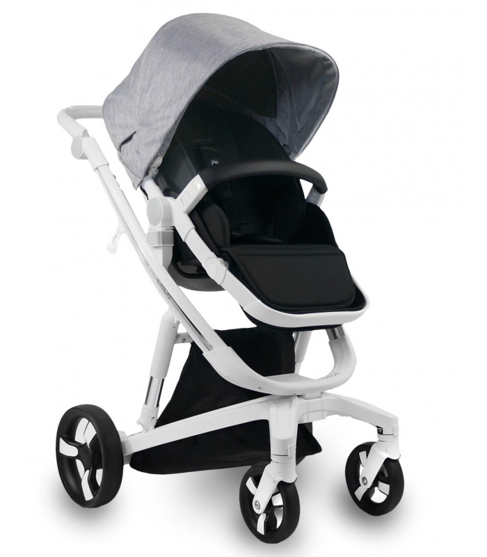Ibebe ISTOP WHITE FRAME IS1 GREY Travel System 2in1 / 3in1 / 4in1