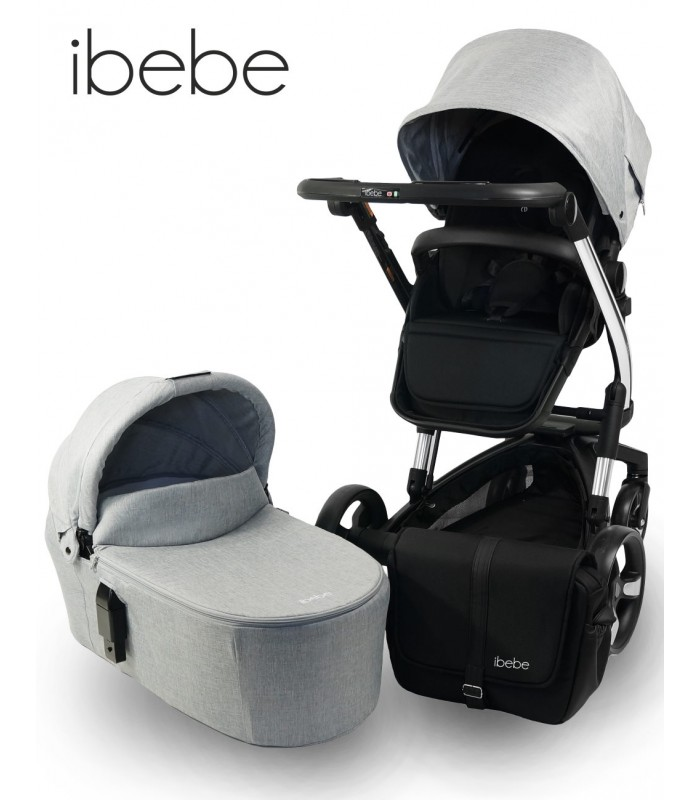 Ibebe ISTOP CHROME FRAME IS6 Grey Travel System 2in1 / 3in1 / 4in1
