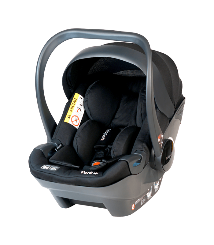 BabySafe York Black Car Seat with or without ISOFIX Base (i-Size) (0-15 months, 0-13 kg)
