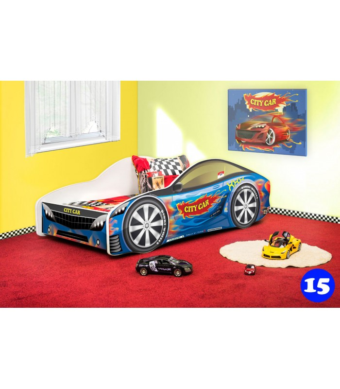 PPG4KIDS Boys Racing Car Bed Type R 15