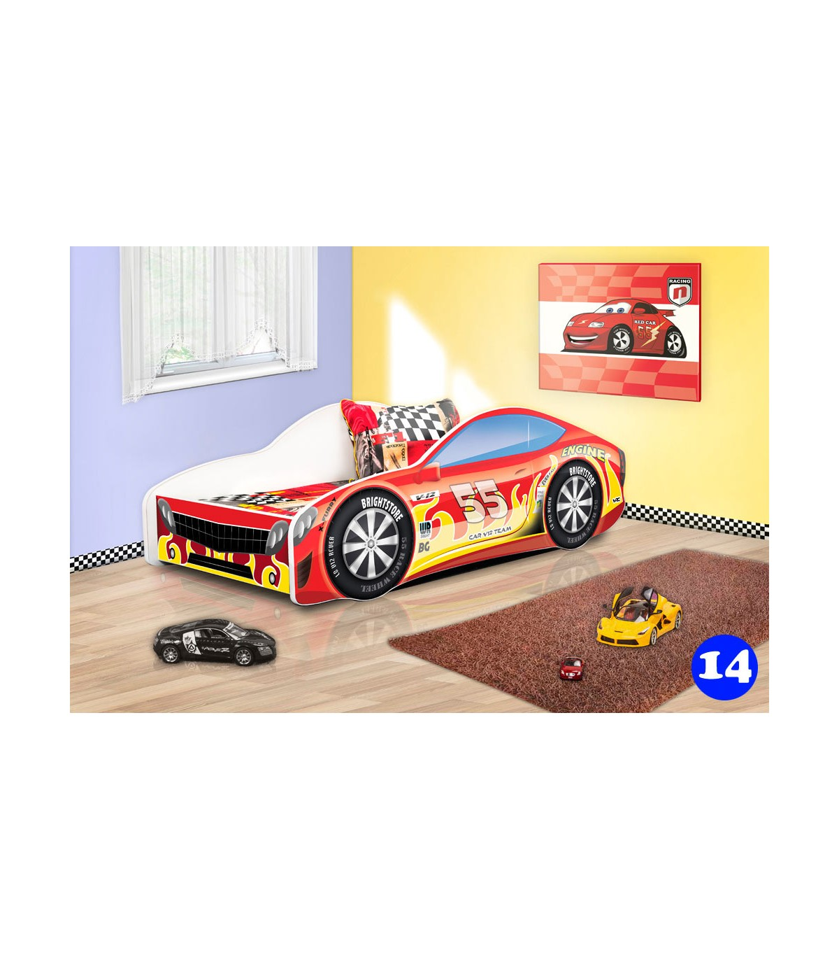 Boys Racing Car Bed Toddler Type R 14