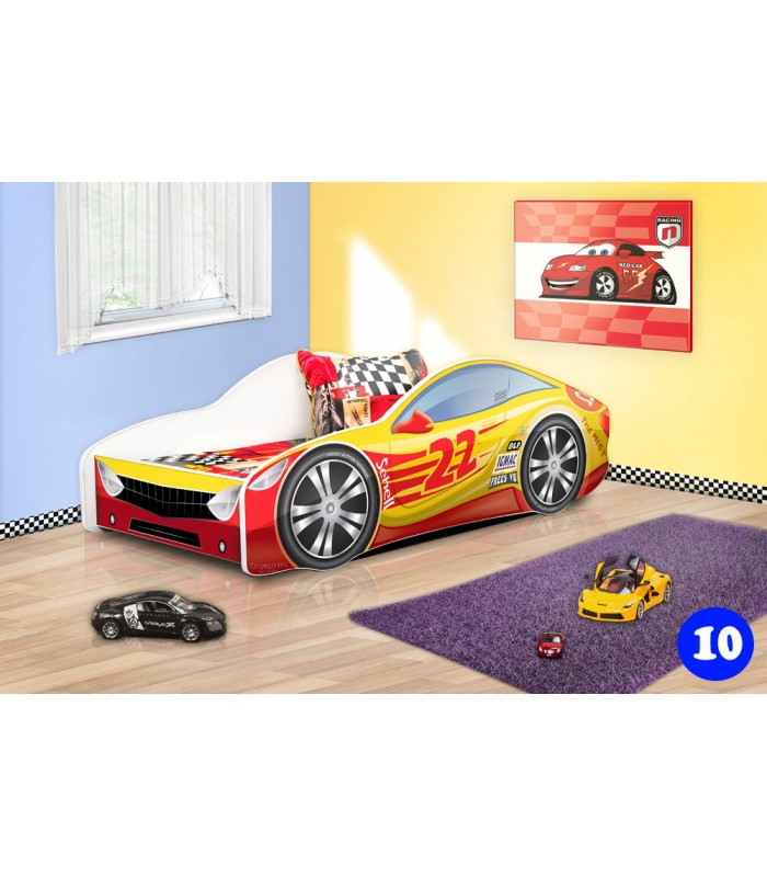 PPG4KIDS Boys Racing Car Bed Type R 10