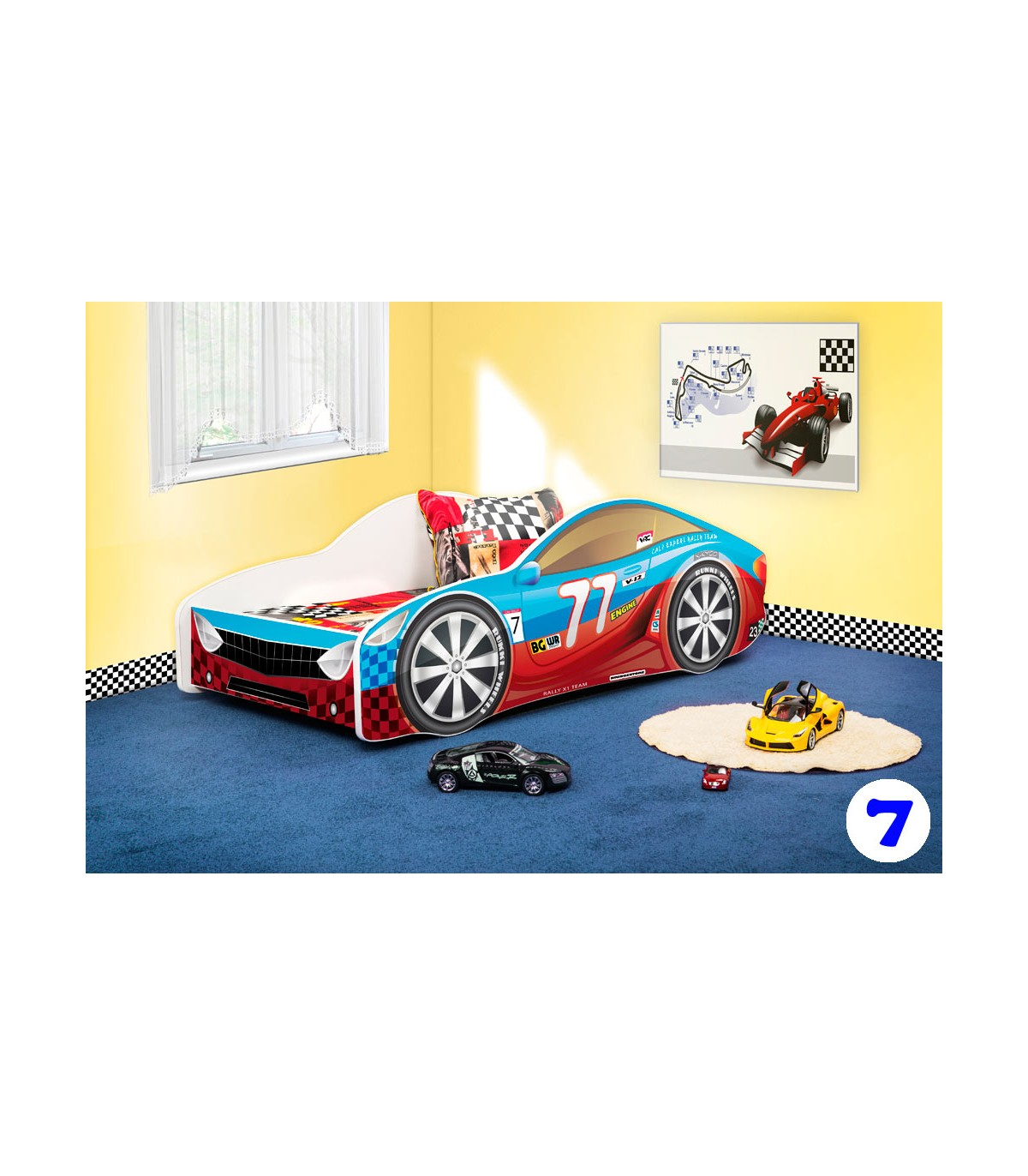 Boys Racing Car Bed Toddler Type R 7