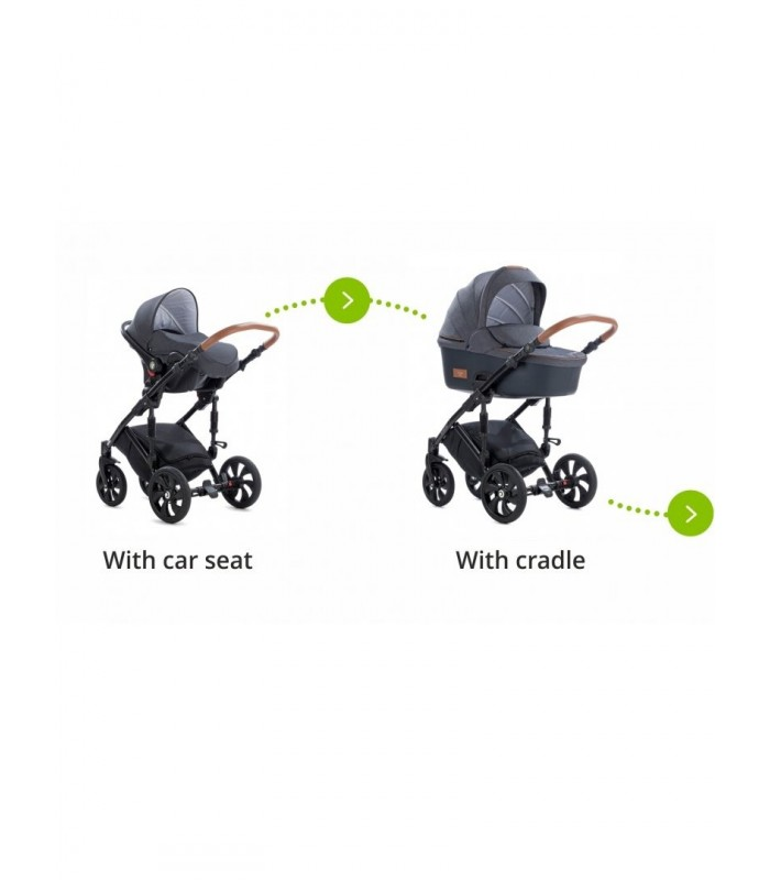 Tutis Uno+ 166 Licorice Eco Leather Travel System 2in1 / 3in1 / 4in1