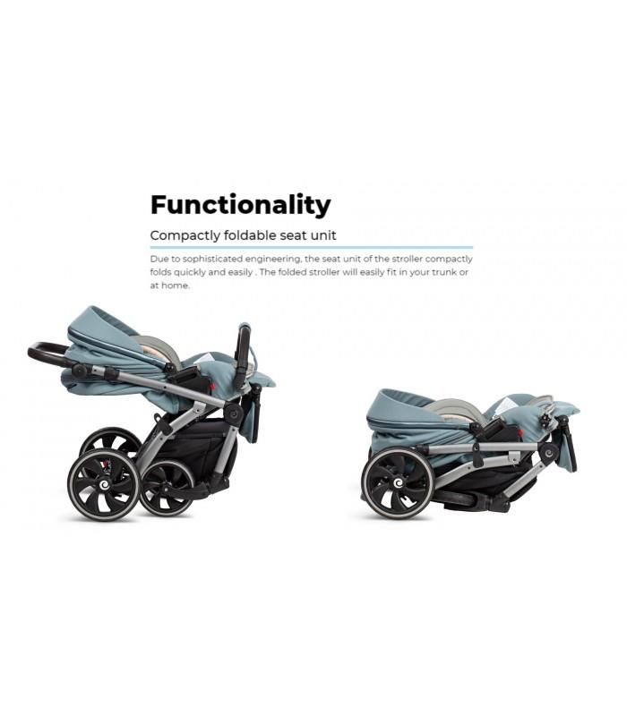 Tutis Uno+ 168 Black sesame Eco Leather Travel System 2in1 / 3in1 / 4in1