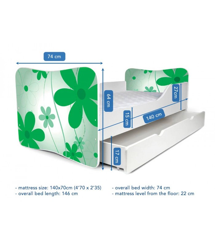 PPG4KIDS Butterfly bed dimensions