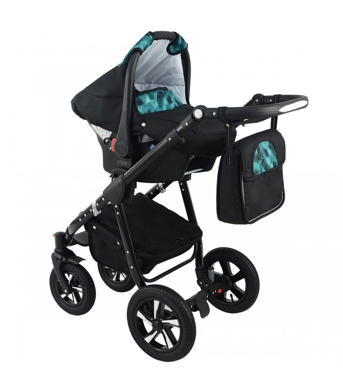Nexxo Black (Mint) Travel System
