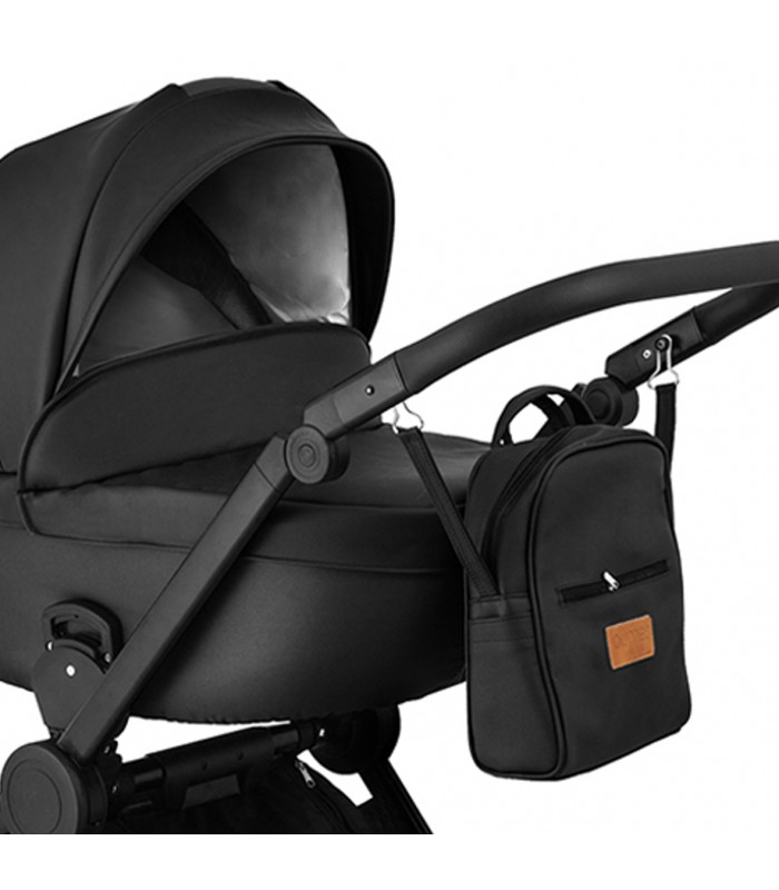 Qumes Flow 3in1 Eco-Leather Travel System QFL.NOIR Black