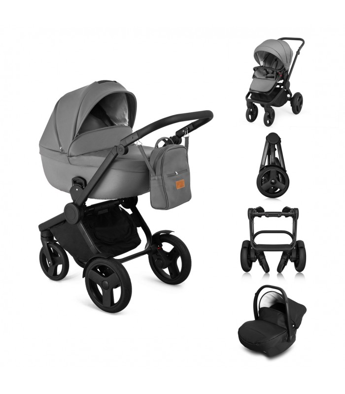 Qumes Flow 3in1 Eco-Leather Travel System QFL.GRIGIO Gray