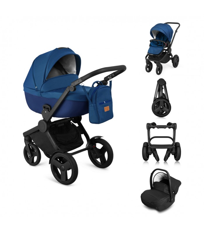 Qumes Flow 3in1 Eco-Leather Travel System QFL.COBALT Blue