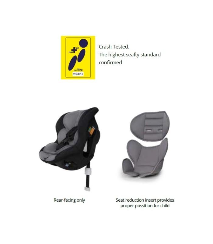 BabySafe Akita Black Car Seat (0-4 years, 0-18 kg)