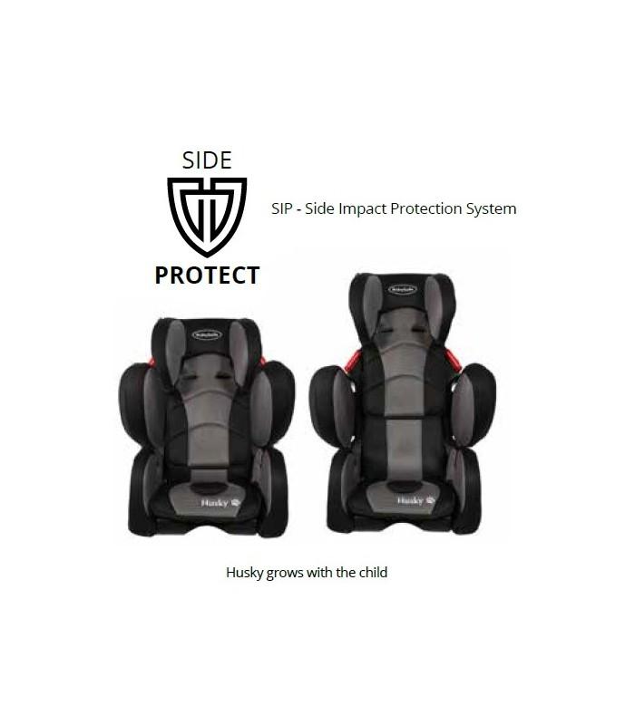 BabySafe Husky SIP Grey Car Seat (9 months to 12 years, 9-36 kg)