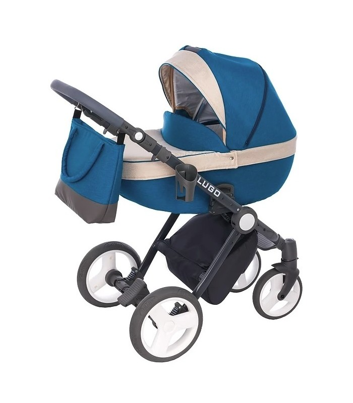 Lugo L02 Blue-Beige-Black Fabric Travel System 2in1 / 3in1 / 4in1