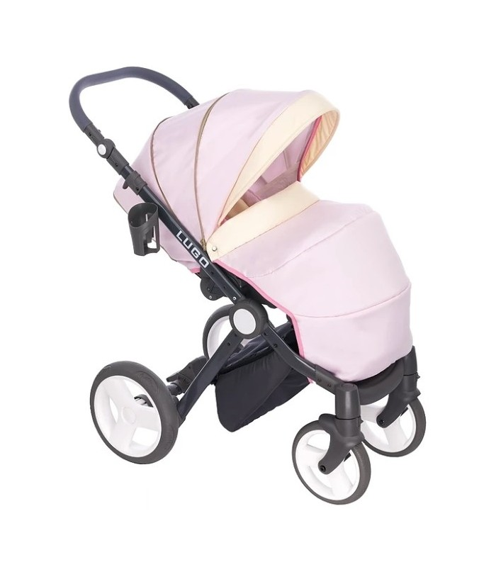 Lugo L03 Pink-Gold-Black Fabric Travel System 2in1 / 3in1 / 4in1