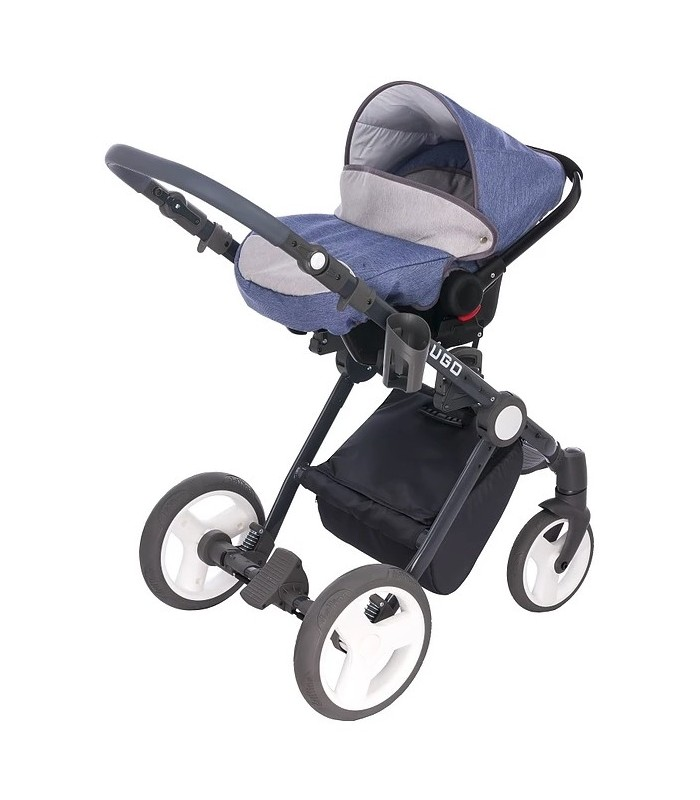 Lugo L05 Blue-Grey-Black Fabric Travel System 2in1 / 3in1 / 4in1