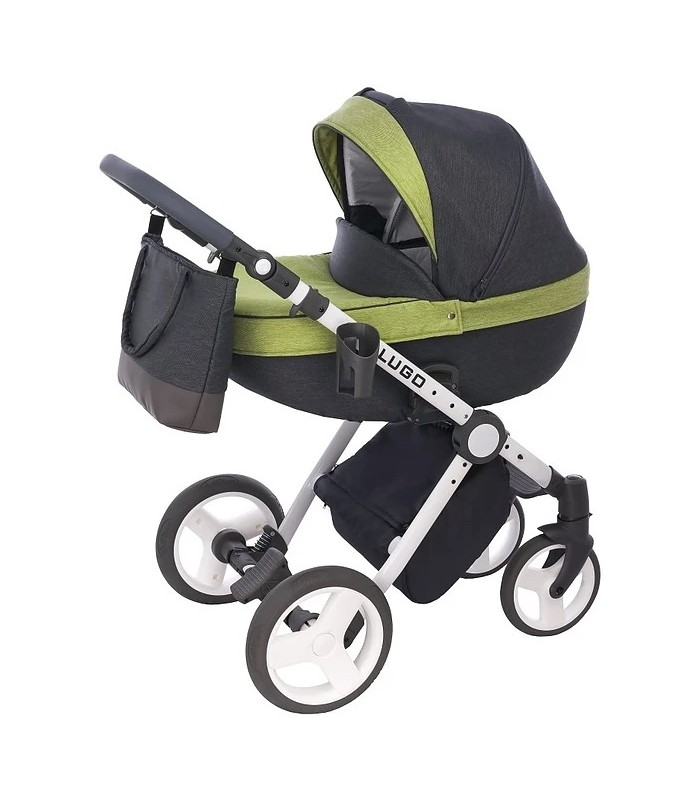 Lugo L07 Green-Grey-Black Fabric Travel System 2in1 / 3in1 / 4in1