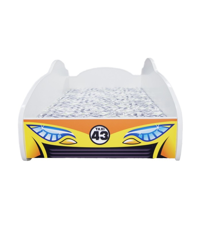 Racing Car Bed Toddler TAXI + mattress + pillow