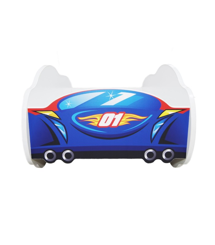 Racing Car Bed Toddler RED-BLUE + mattress + pillow