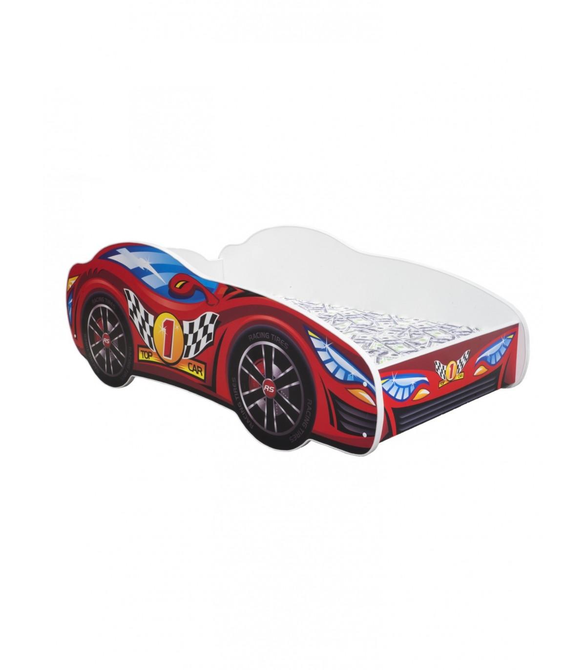 Racing Car Bed Toddler Red Mattress Pillow