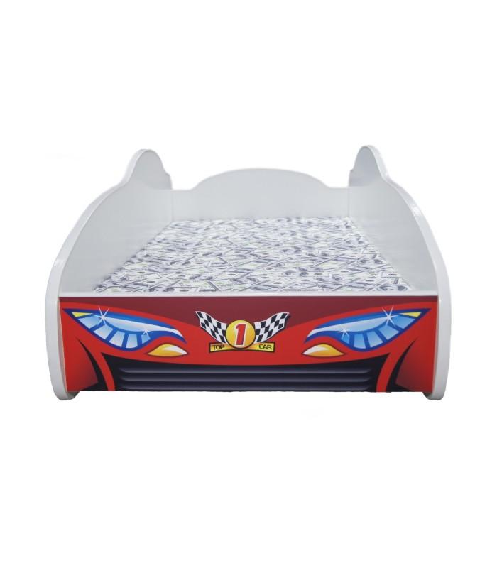 Racing Car Bed Toddler RED + mattress + pillow