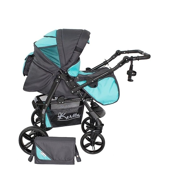 Twist 12 Turquoise-Grey Fabric Travel System 2in1 / 3in1