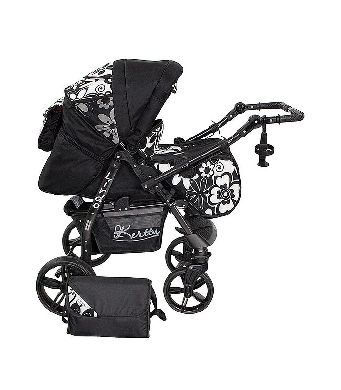 Twist 18 Black-Flowers Fabric Travel System 2in1 / 3in1