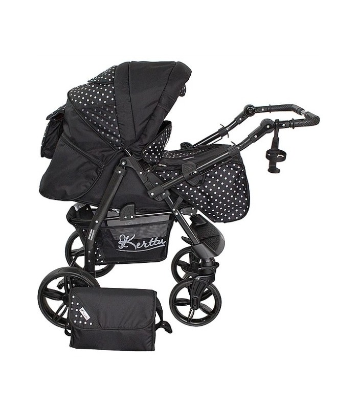 Twist 40 Black-White-Dots Fabric Travel System 2in1 / 3in1