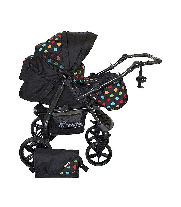 Twist 43 Black-Color-Dots Fabric Travel System 2in1 / 3in1