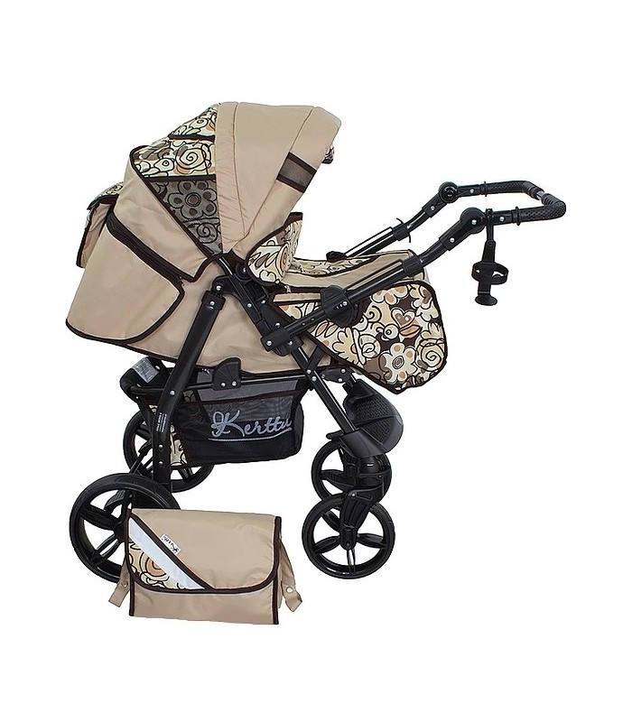 Twist 66 Beige-Flowers Fabric Travel System 2in1 / 3in1