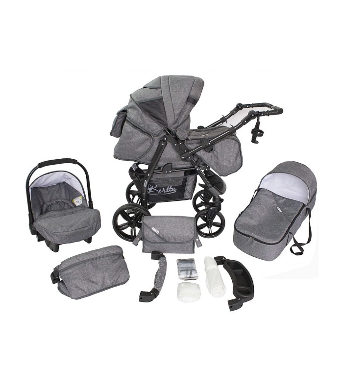 Twist 72 Grey Fabric Travel System 2in1 / 3in1