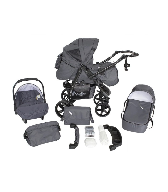 Twist 74 Dark-Grey Fabric Travel System 2in1 / 3in1