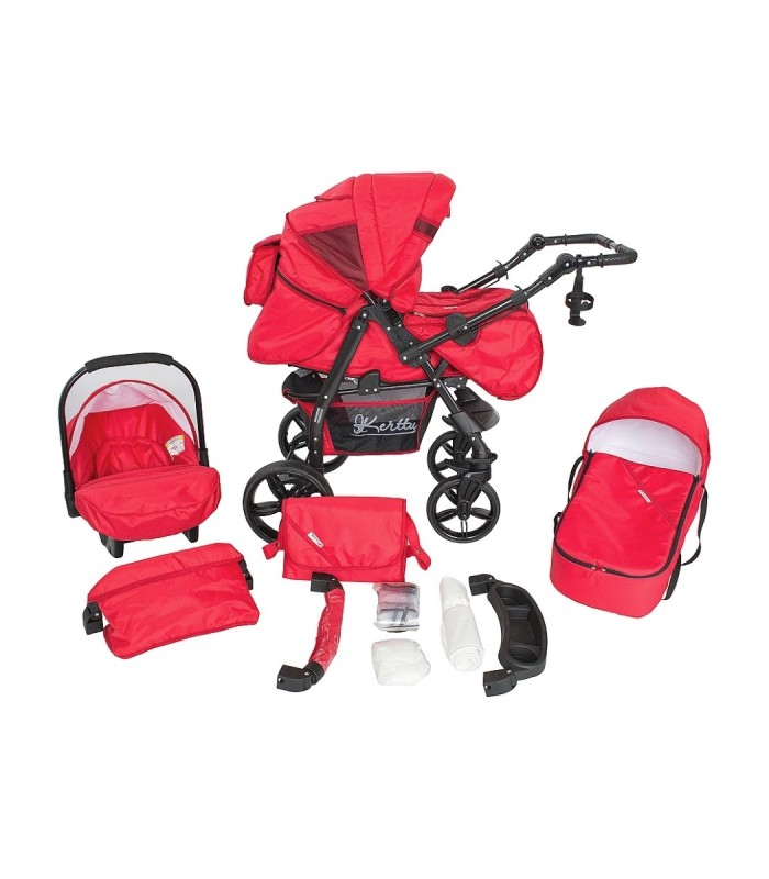 Twist 75 Red Fabric Travel System 2in1 / 3in1