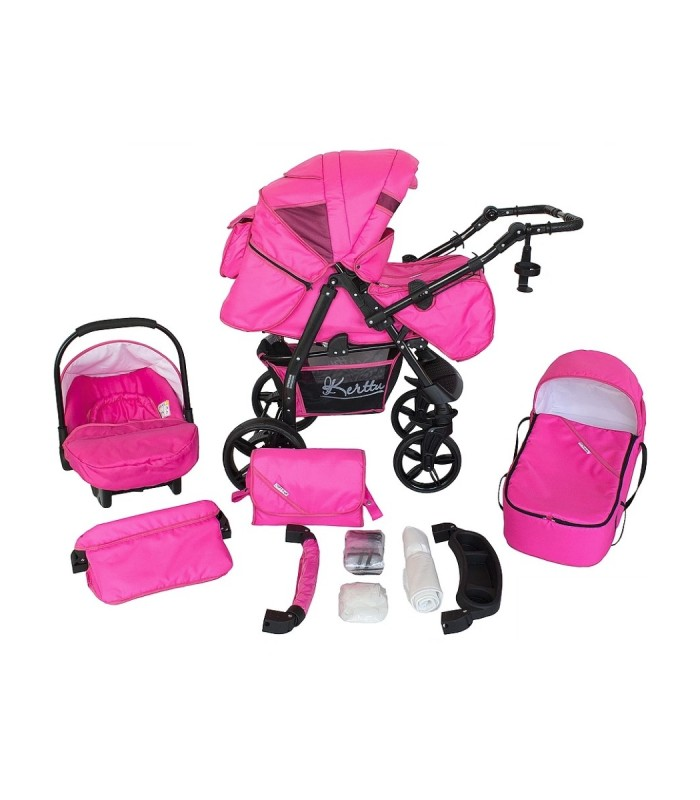 Twist 76 Pink Fabric Travel System 2in1 / 3in1