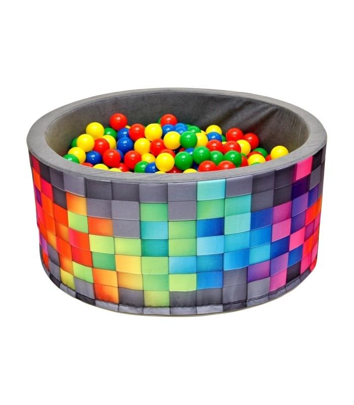 Kinderball Pool FUN Grey-Tiles