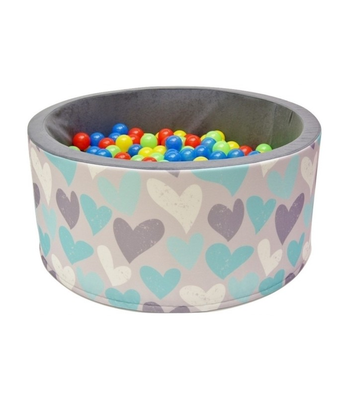 Children's Ball Pool FUN Grey-Hearts