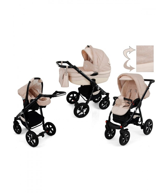 Nexxo N9 Black Frame Travel System 2in1 / 3in1 / 4in1
