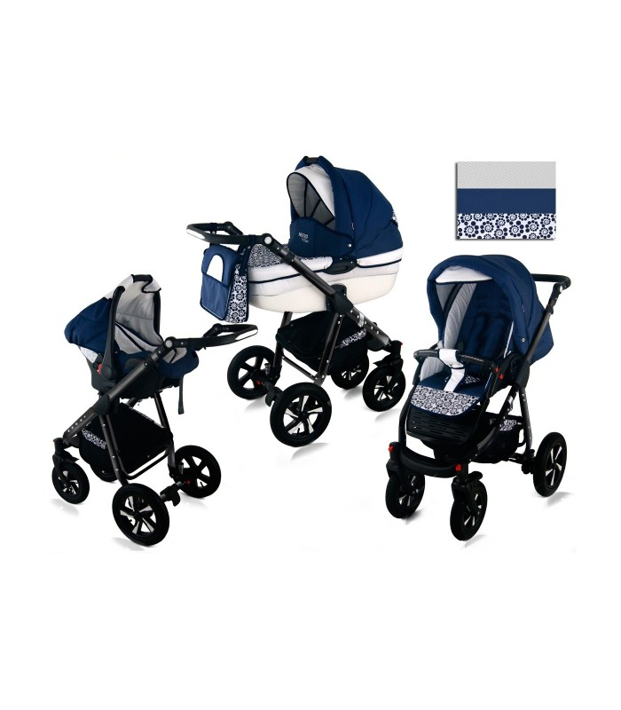 Nexxo N17 Black Frame Travel System 2in1 / 3in1 / 4in1